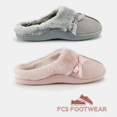 £8.75 • Buy Ladies Women's Winter Warm Faux Fur Lined Bedroom House Slippers Shoes Size 3-8