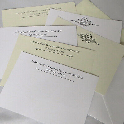 £6.49 • Buy Personalised Correspondence Cards Note Card Writing Set