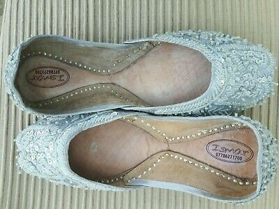 £7.99 • Buy Silver   Ladies Indian Wedding Party Khussa Shoes  Size 7