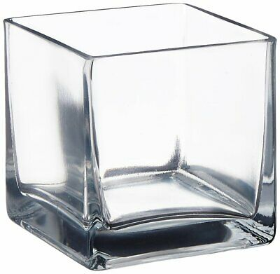 £11.09 • Buy Afloral Clear Cube Glass Vase 4  X 4