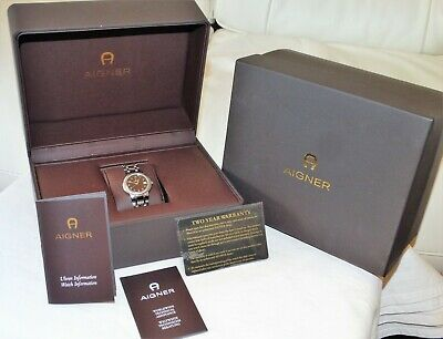 £120 • Buy Aigner Swiss Made Ladies Stainless Watch, Design Milano, Genuine In Box & Papers