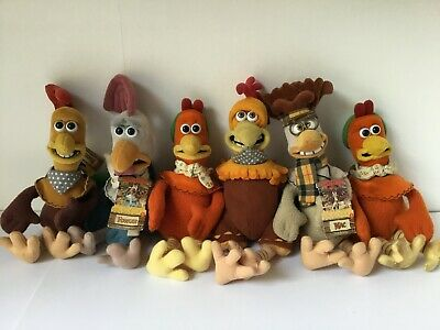 £15 • Buy  Aardman Chicken Run  From Makers Of Wallace And Gromit - 6x Plush Toy Set