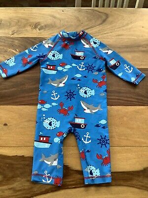 £1.99 • Buy M&S All In One Boys UV Sun Suit Age 2-3 Years Swim Sharks Crabs Fish