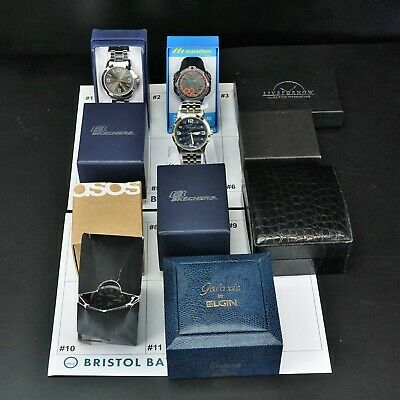 $ CDN124.49 • Buy Lot Of 11 Assorted New In Box Men's Watches From Various Brands -BBR2049
