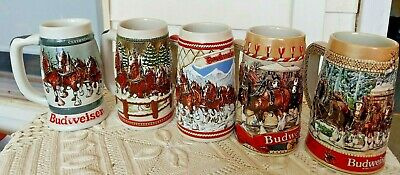 $ CDN60.89 • Buy 1983 1984 1985 1986 1987 Budweiser Holiday Beer Steins Clydesdales Excellent