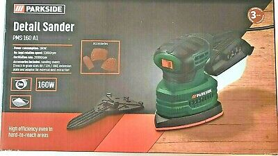 £18.97 • Buy Parkside 160W Detail Electric Sander + Sandpaper & Collection Box PMS 160 A1 NEW