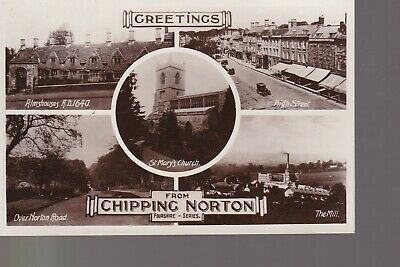 £0.99 • Buy Chipping Norton Multiview - Old Unposted Real Photo Postcard Mill Almshouses