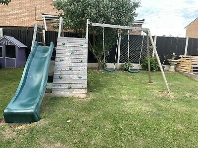 £50 • Buy Plum Climbing Pyramid Wooden Climbing Frame With Swings