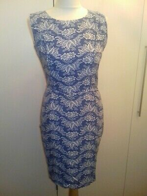 £4 • Buy Ruby Rocks Size S Blue And White Floral Dress. Cut Out Back. Excellent Condition