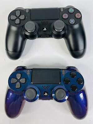 AU113.58 • Buy Custom Chameleon Painted PS4 Controller & Black OEM PS4 Wireless Controller