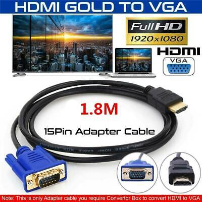 £4.69 • Buy HDMI Male To VGA Male Video Converter Adapter Cable Cord 1080P HDTV Hot