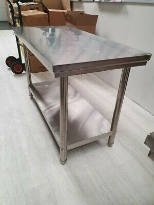 £87 • Buy Commercial Catering Kitchen Table Stainless Steel Prep Work Bench - 120 X 60cm