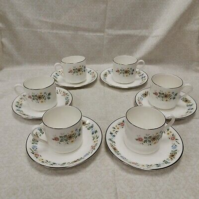£6.99 • Buy ROYAL DOULTON PASTORALE H.5002 6 X Bone China Coffee Cups & Saucers