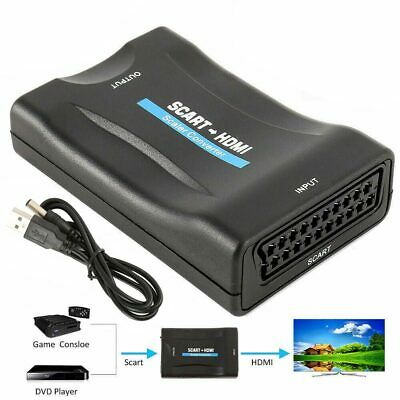 £6.77 • Buy SCART To HDMI 1080P Audio Video Scaler Converter Adapter For DVD TVBOX
