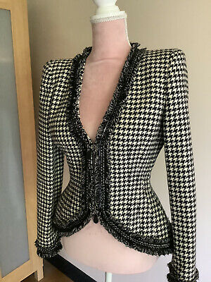 £200 • Buy Alexander Mcqueen Beautiful Dogtooth Shaped Wool Jacket - Collector Item