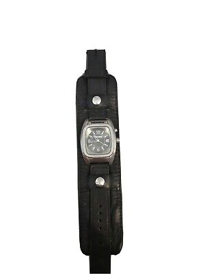 £21 • Buy Nixon Watch -  The Rocker/The Metal Powerslave  (A370) With Black Leather Strap.