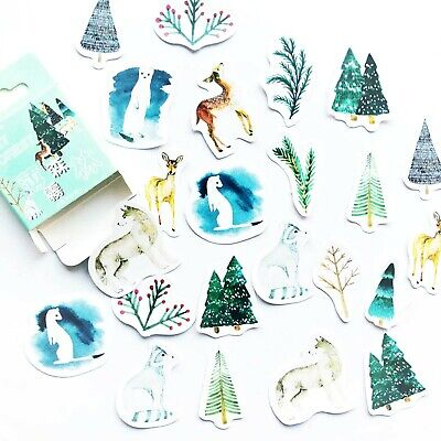 £2.59 • Buy MIST FOREST STICKERS Scrapbook Journal Diary Stationery Card Craft Decoration