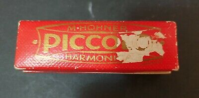 $14.97 • Buy VINTAGE M HOHNER PICCOLO HARMONICA 214/20 - C KEY - MADE In GERMANY