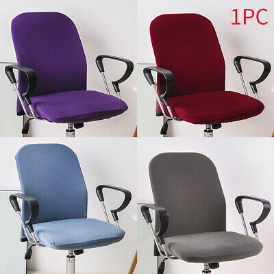 AU16.39 • Buy Washable Split Soft Solid Armchair Seat Stretch Case Office Chair Cover