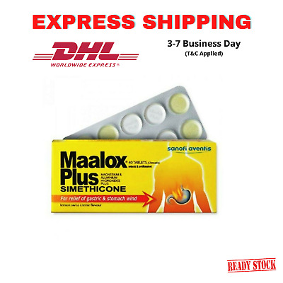 $118.80 • Buy 10 X Maalox Plus Simethicone For Relief Of Gastric & Stomach Wind 40'S EXPRESS