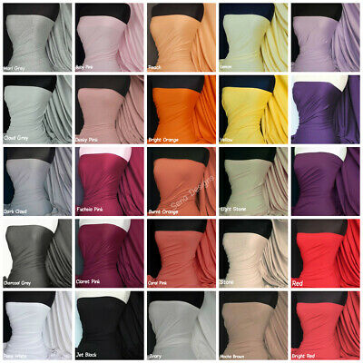 £7.99 • Buy Cotton Lycra Elastane Jersey Fabric Soft & Breathable 4 Way Stretch Material