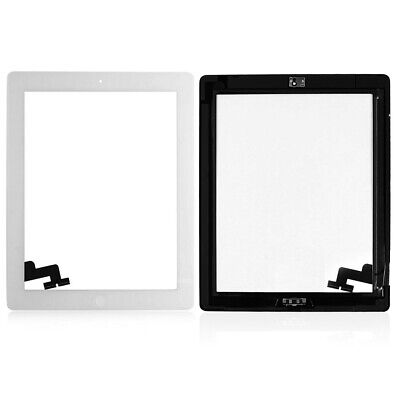 £7.29 • Buy FOR IPAD 2 Screen TOUCH Digitizer +MID Frame Bezel IC Button Replacement White