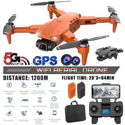 AU175.68 • Buy 5G 4K GPS Drone With HD Camera Drones WiFi FPV Foldable RC Quadcopter Batteries