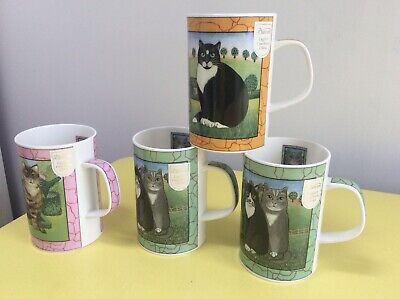 £16 • Buy 4 X Dunoon Gallery Cats Mugs - New Wih Labels