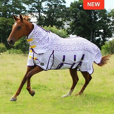 £33.99 • Buy Gallop Bees & Butterflies UV Protection Fly Mesh Full Neck Combo Horse Rug