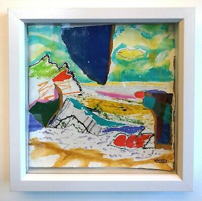 £67.50 • Buy St Ives Porthmeor Beach Abstract Seascape Painting Signed Framed Nigel Waters