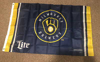 $9.99 • Buy 2021 Milwaukee Brewers Flag With Miller Lite Logo FREE SHIPPING!