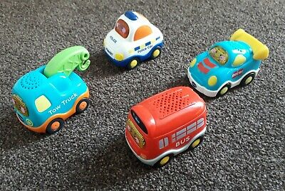 £12.99 • Buy 4 X VTECH Toot Toot Drivers Vehicles Bus Racer Police Car Tow Truck Lights Sound