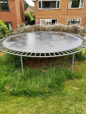£10 • Buy 14 Foot Trampoline With Safety Net And Pads.