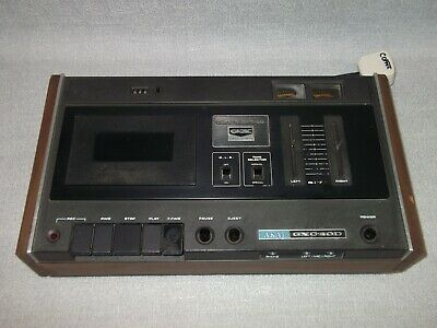 £29.99 • Buy Akai GXC-40D Vintage 1973 Stereo Cassette Deck With Microphone Inputs