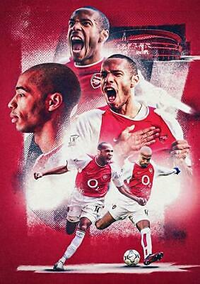 £16.49 • Buy Thierry Henry Bb5 Arsenal Poster Art Print - A4 A3 A2 A1 A0 Sizes