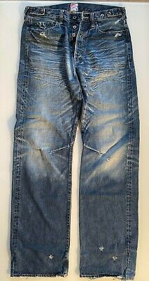 £75 • Buy Genuine Distressed Jeans By 'PRPS' Japanese 32'' X 32