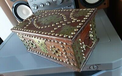 £25 • Buy Antique Arts And Crafts Wooden & Brass Lidded Box/ Rare , Very Stylish