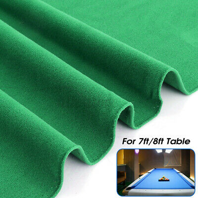 £18.41 • Buy 2.5x1.42m Worsted Billiard  For 7ft 8ft Pool Snooker Table Cloth Felt Cove φ