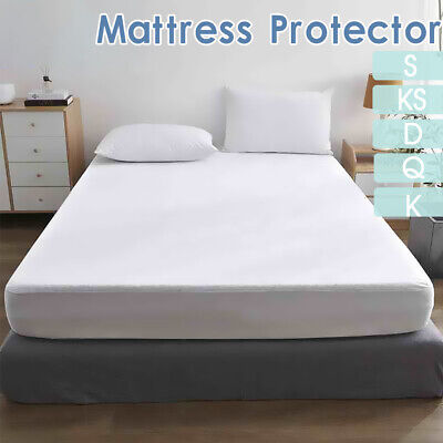 AU19.99 • Buy Fully Fitted Waterproof Mattress Protector Terry Cotton Bed Cover All Size 35cm