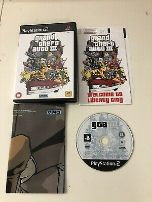 £6.99 • Buy Grand Theft Auto III 3 Video Game For Sony PlayStation 2 PS2 TESTED With Map