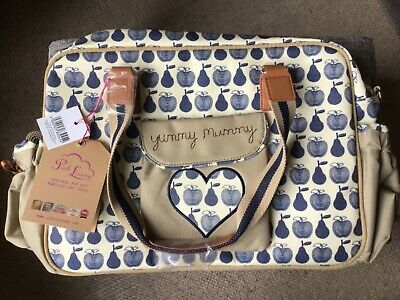 £30 • Buy Pink Lining Yummy Mummy Changing Bag Apple & Pears Beige And Navy BNWT