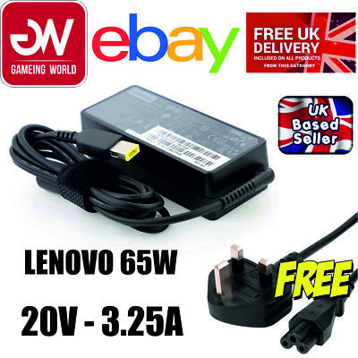 £9.99 • Buy Genuine Lenovo Adlx65nlc2a 65w 20v 3.25a Laptop Power Adapter Charger Sale!!