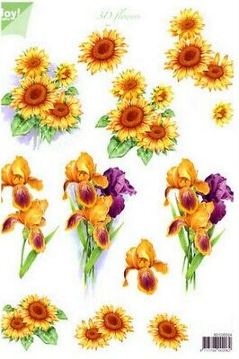 £0.99 • Buy Joys Crafts Non Die Cut Sunflower Flowers  For Cards & Crafts
