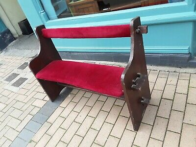 £140 • Buy Pine Stained Dark Oak Victorian Church Pew/ Bench, Hand Made.