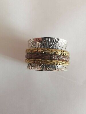 £3 • Buy Sterling Silver Fidget Spinning Ring, Size L