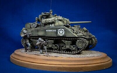 $100 • Buy Tamiya 1/35th Scale M4 Sherman And Figures Built Model