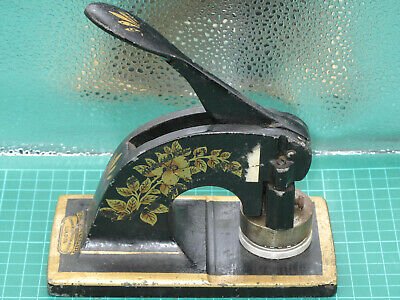 £18.99 • Buy Bouverie Properties - Antique Chas. Davy & Co. Embossing Press Stamp Machine