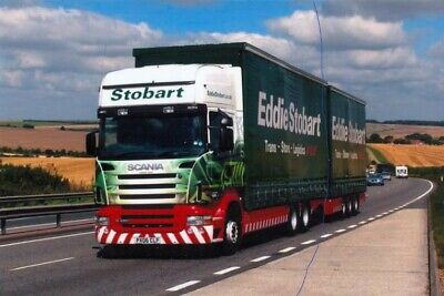 £1.45 • Buy Eddie Stobart Photo Scania Lorry With Trailer Photograph Truck Px06clf Picture.