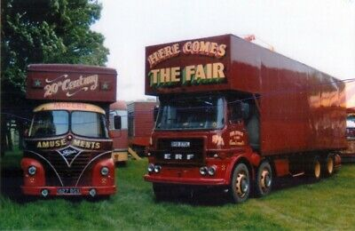 £1.25 • Buy Foden Truck Photograph Carters Fun Fair Lorry Photo Fairground Picture Erf 2&3.