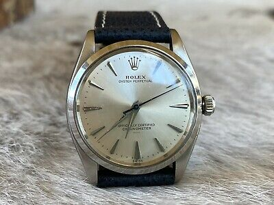 $ CDN1649.69 • Buy Rolex Oyster Perpetual UNDERLINE Dial SERVICED Vintage Ref 6564 + New Strap